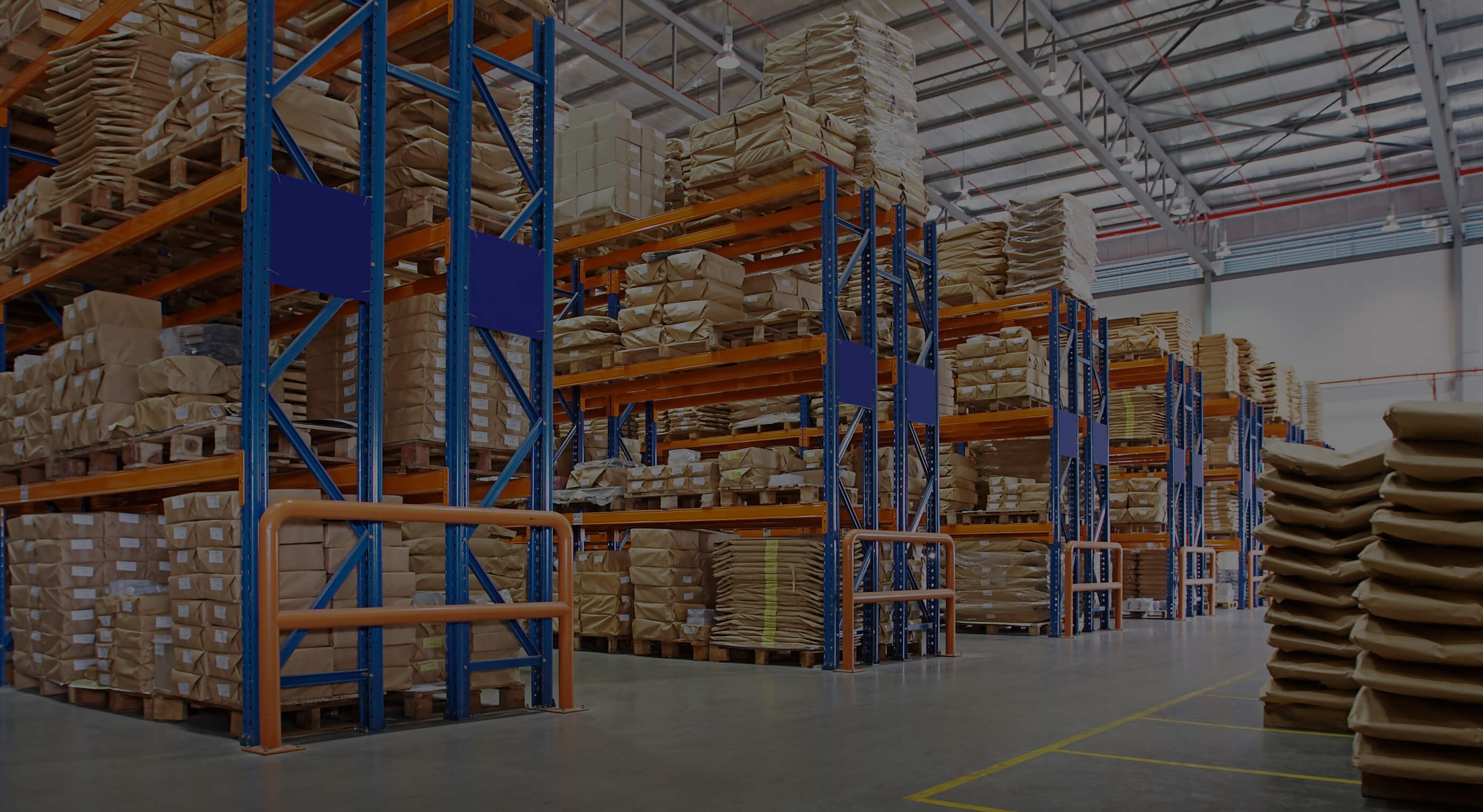 Pallet racking with Barriers